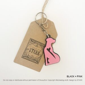 PRINTADOG_KeyChain_Ridgeback_SittingSTARR_pink