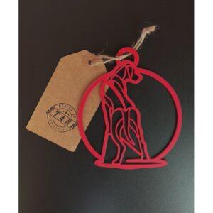 PRINTADOG_Ornament_Ridgeback_Red