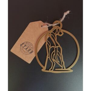 PRINTADOG_Ornament_Ridgeback_gold