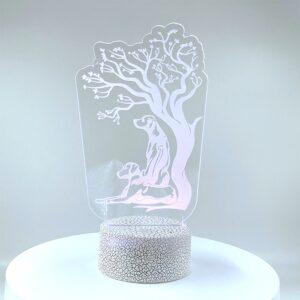 Rhodesian Ridgeback Tree Acrylic Led Light